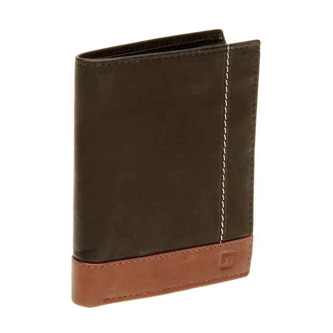 Men's leather wallet bata, black , 944-6150 - 13