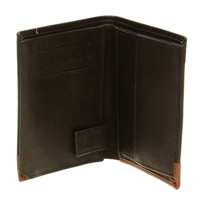 Men's leather wallet bata, black , 944-6150 - 16
