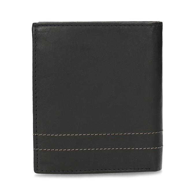 Leather wallet with quilting bata, brown , 944-6148 - 16