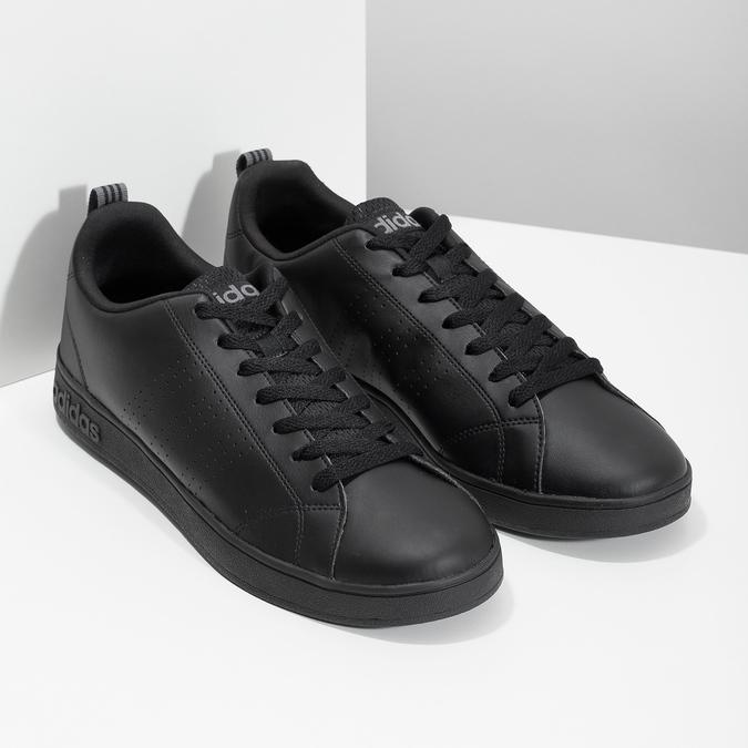 Men's black sneakers adidas, black , 801-6144 - 26