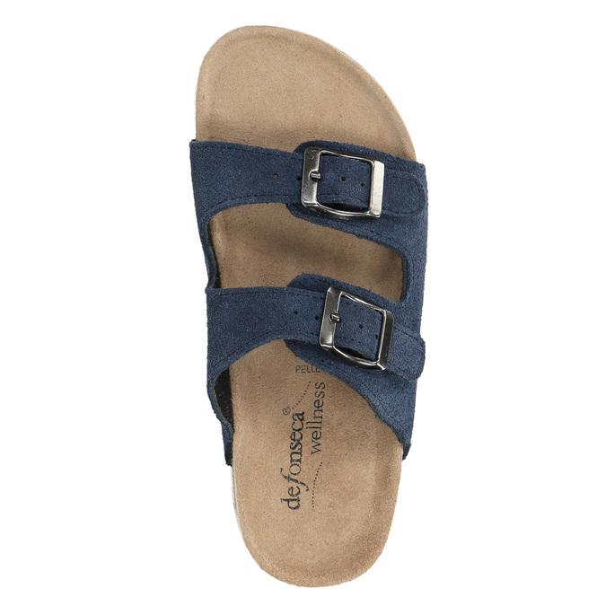 Children's blue slippers de-fonseca, blue , 373-9600 - 19