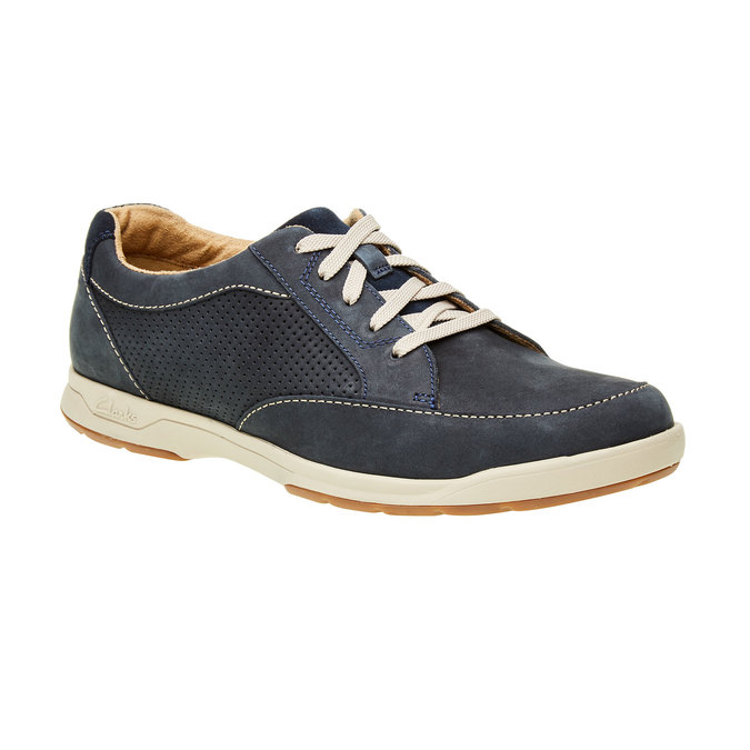 Men´s shoes made of brushed leather clarks, gray , blue , 826-9006 - 13