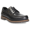 Leather low shoes with toe quilting bata, black , 826-6640 - 13