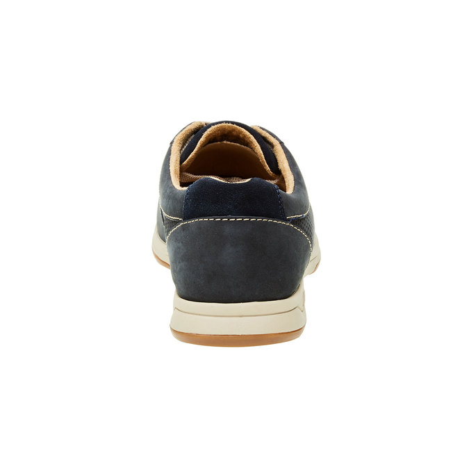 Men´s shoes made of brushed leather clarks, gray , blue , 826-9006 - 17