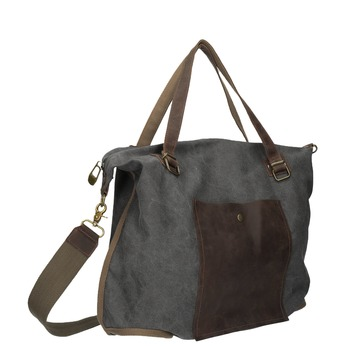 Big bag with strap weinbrenner, gray , 969-2620 - 13