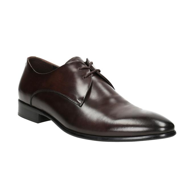 Men's Leather Lace-Ups bata, brown , 826-4648 - 13