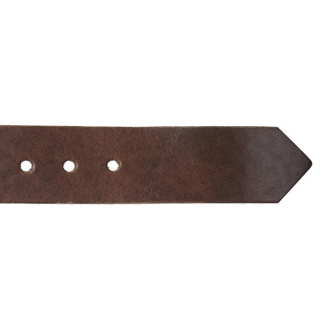 Brown leather belt bata, brown , 954-4129 - 16