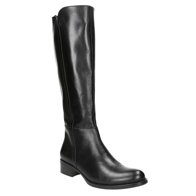 Ladies' leather high boots bata, black , 594-6586 - 13