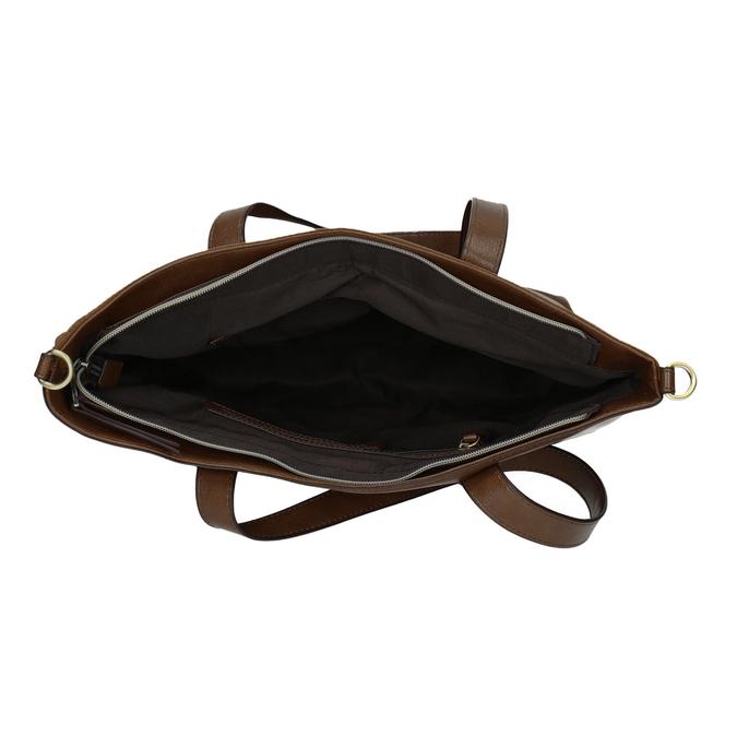 Ladies' handbag with asymmetric zip bata, brown , 961-3847 - 15