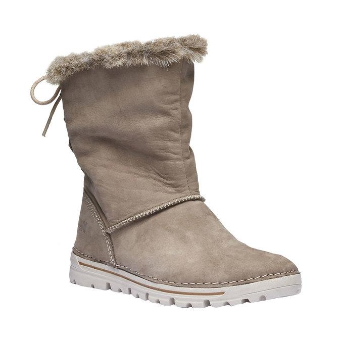 Ladies' winter boots with artificial fur weinbrenner, beige , 596-2334 - 13