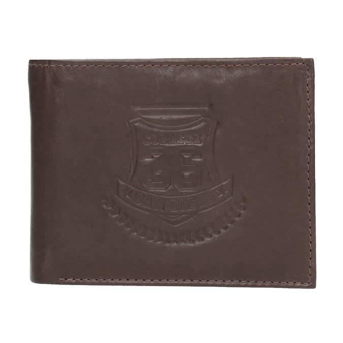 Men's leather wallet bata, brown , 944-4171 - 26