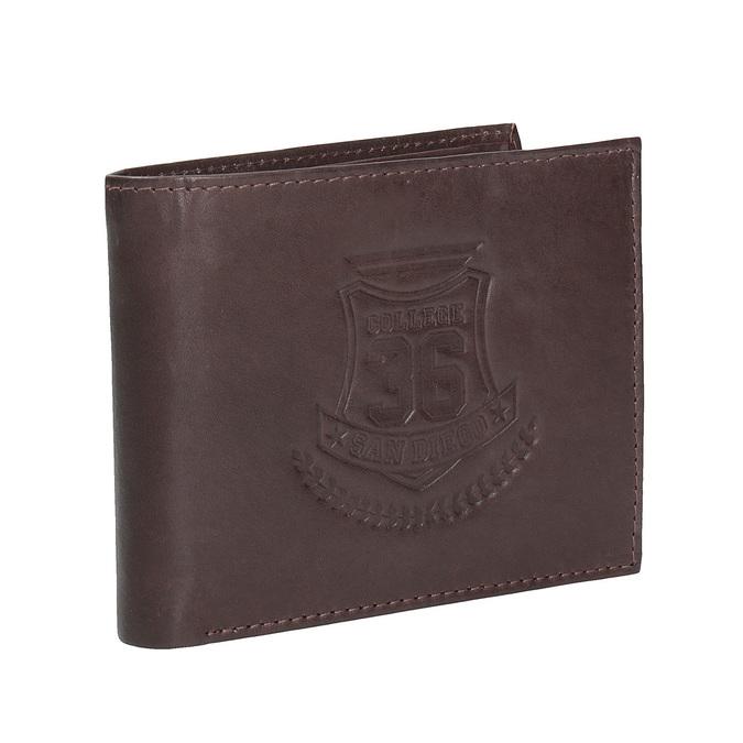 Men's leather wallet bata, brown , 944-4171 - 13