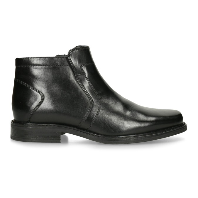 Insulated leather ankle boots bata, black , 894-6641 - 19