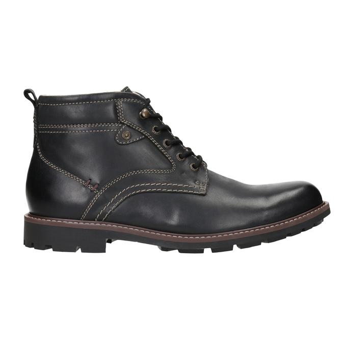 Leather winter shoes bata, black , 894-6642 - 26