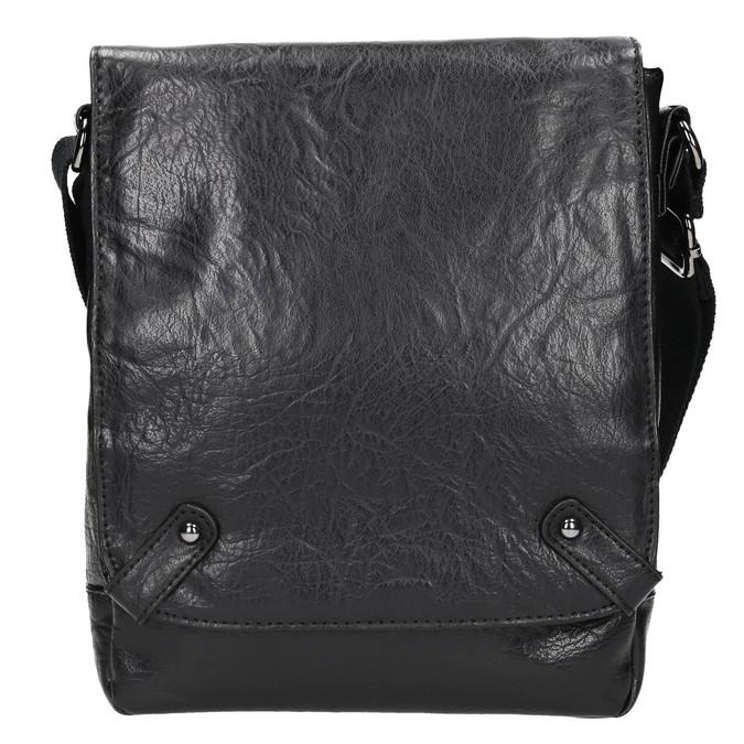 Men's crossbody bag bata, black , 961-6262 - 26