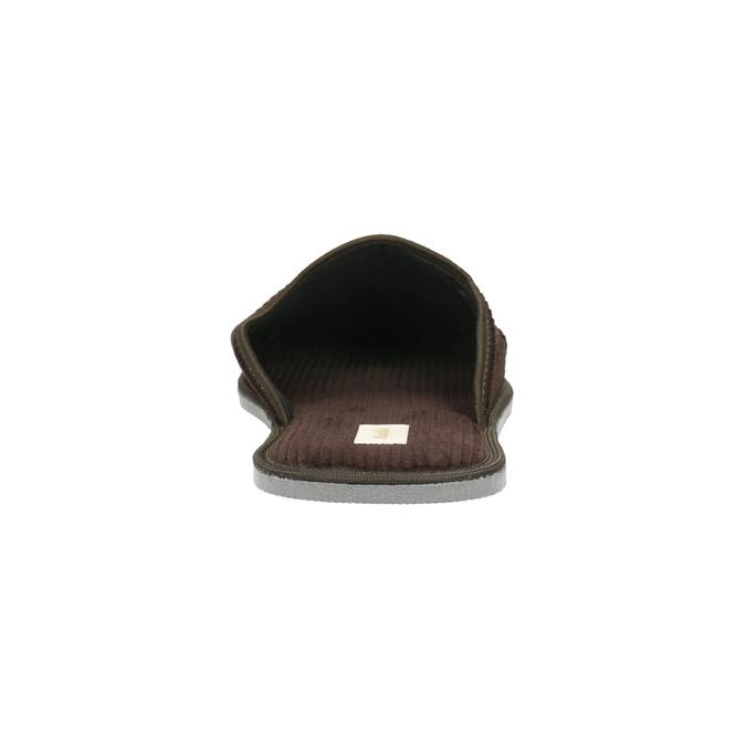 Men's slippers with full toe bata, brown , 879-4609 - 17