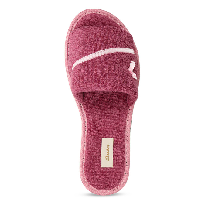 Ladies' slippers with bow bata, pink , 579-5609 - 17