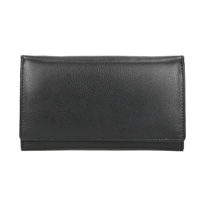 Ladies' leather purse bata, black , 944-6357 - 26