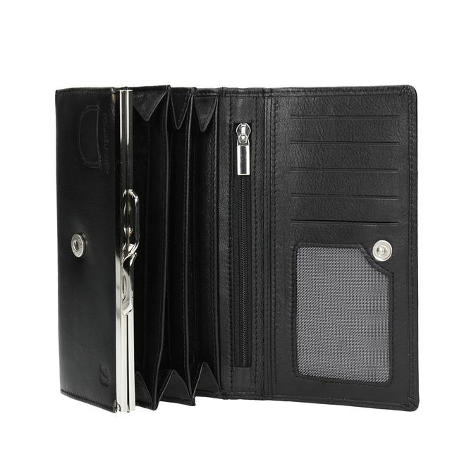 Ladies' leather purse bata, black , 944-6357 - 15