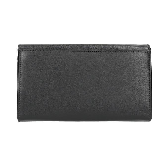 Ladies' leather purse bata, black , 944-6357 - 19