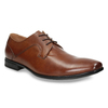 Men's brown leather shoes bata, brown , 826-3758 - 13