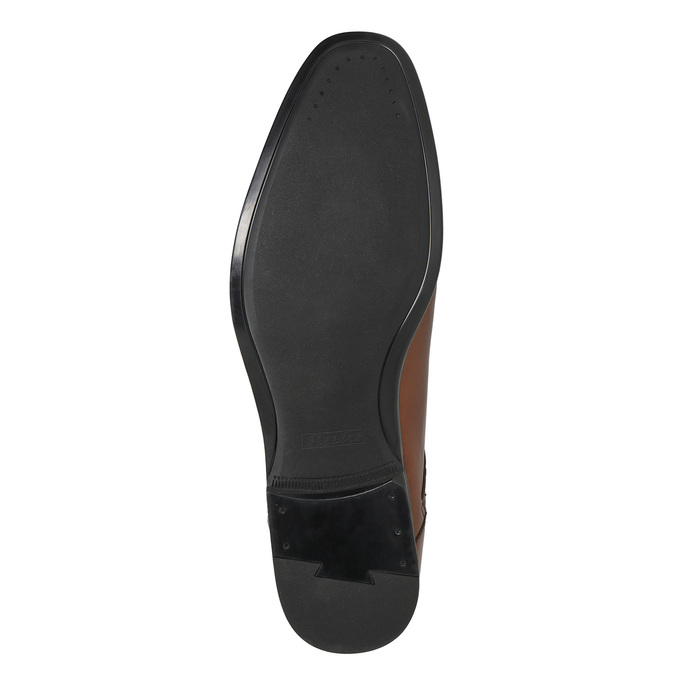 Men's brown leather shoes bata, brown , 826-3758 - 19