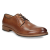 Men's thick-soled leather shoes bata, brown , 826-3809 - 13