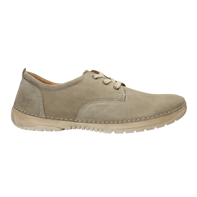 Casual leather shoes weinbrenner, beige , 846-8631 - 15