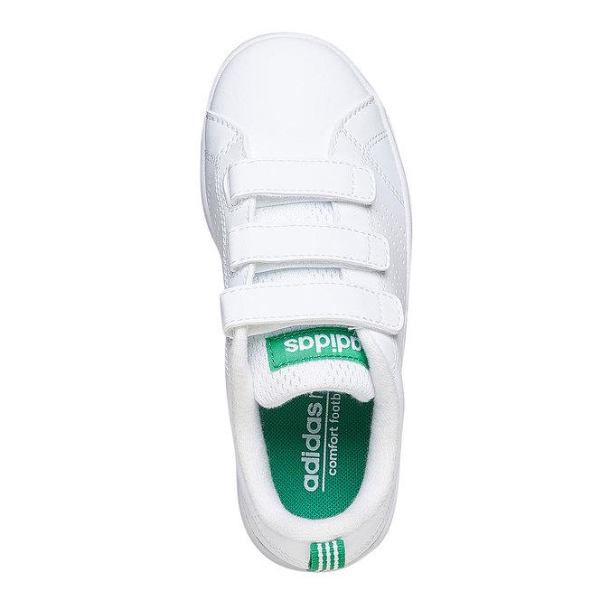 Weißer Sportschuh der Fa. Adidas mit Klettverschluss, sehr komfortabel