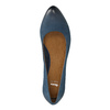 Ladies´ leather pumps bata, blue , 626-9639 - 19