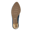 Ladies´ leather pumps bata, blue , 626-9639 - 26