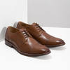 Brown leather Derby-style shoes bata, brown , 826-3812 - 26