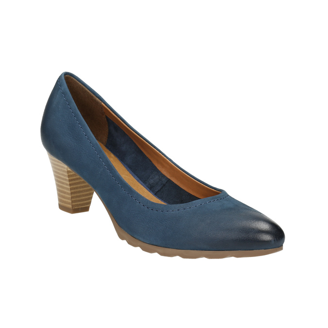 Ladies´ leather pumps bata, blue , 626-9639 - 13