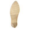 Leather pumps with a low heel bata, beige , 626-8639 - 17