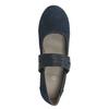Blue leather pumps width H bata, blue , 623-9600 - 15