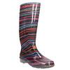 Children's wellington boots with stripes mini-b, black , 492-6112 - 13