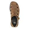 Men's brown leather sandals bata, brown , 864-4600 - 19