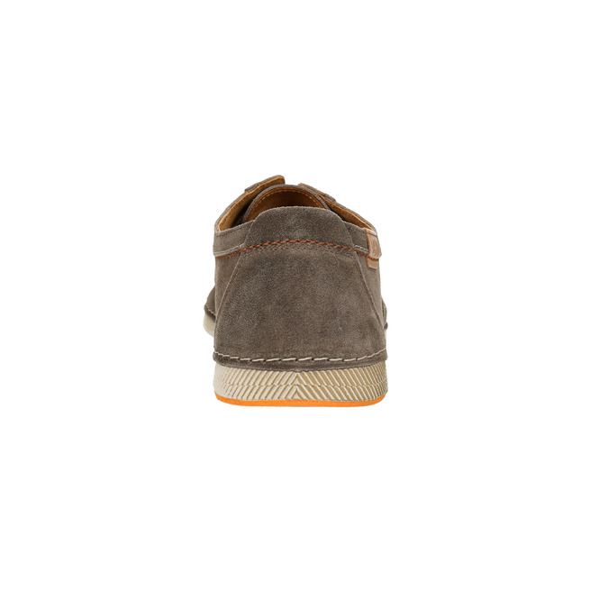 Casual shoes of brushed leather weinbrenner, brown , 843-4629 - 17