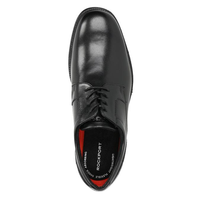 Black leather shoes rockport, black , 824-6127 - 19