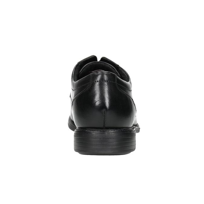 Black leather shoes rockport, black , 824-6127 - 17