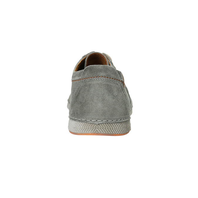 Casual grey leather shoes weinbrenner, gray , 843-2629 - 17