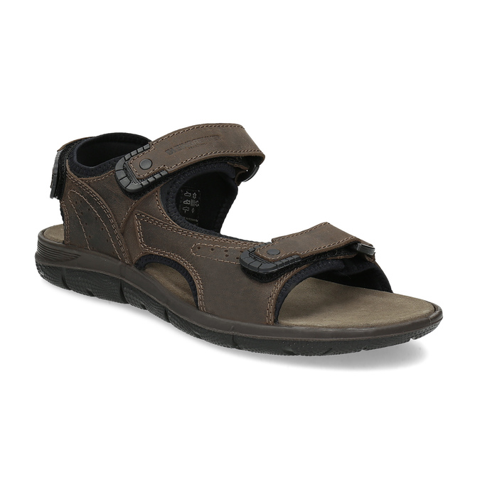 Leather sandals with Velcro fasteners weinbrenner, 866-4631 - 13