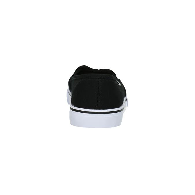 Ladies' black slip-ons tomy-takkies, black , 589-6170 - 17