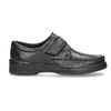 Men's leather shoes with Velcro pinosos, black , 824-6543 - 19