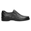 Men's leather moccasins pinosos, black , 814-6622 - 15