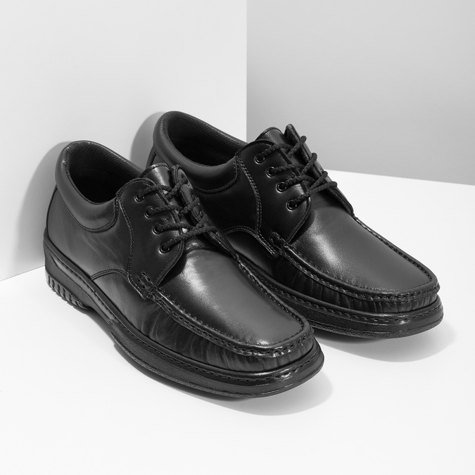 Men's shoes with stitching pinosos, black , 824-6542 - 26