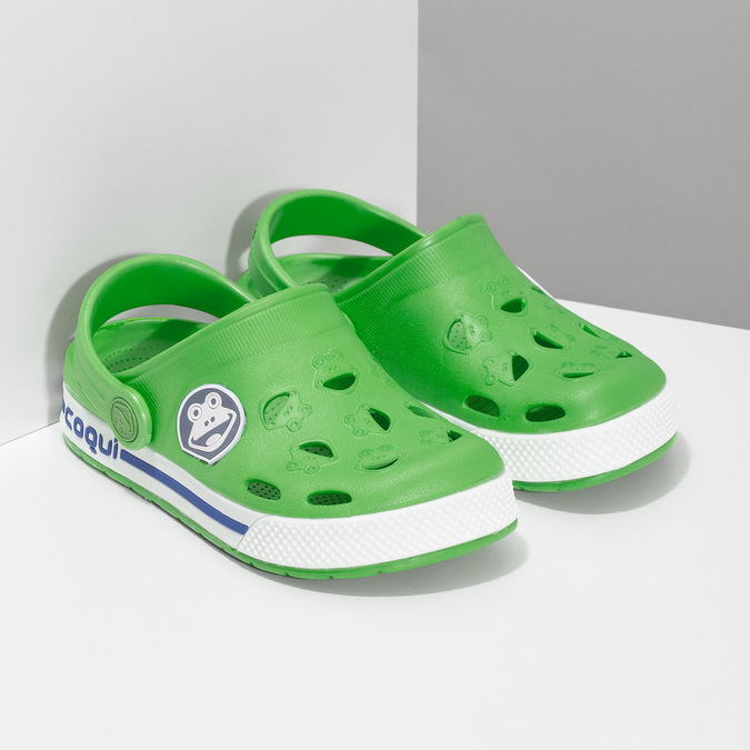 Children's green sandals coqui, green, 272-7603 - 26