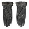 Ladies' leather gloves with fur bata, black , 904-6112 - 16