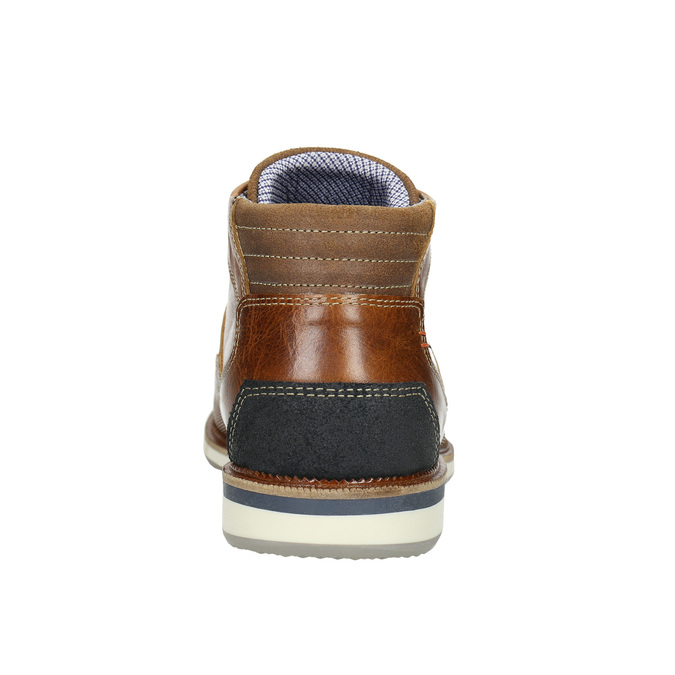 Casual leather ankle boots bata, brown , 826-3912 - 17