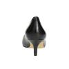 Ladies' leather pumps bata, black , 624-6640 - 17